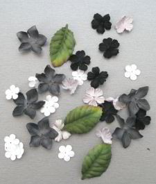 Paper Flowers 2 Black & White