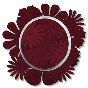 Felt Flowers dark red