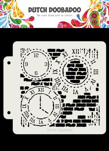 Dutch Doobadoo Dutch Mask Art Grunge Clock