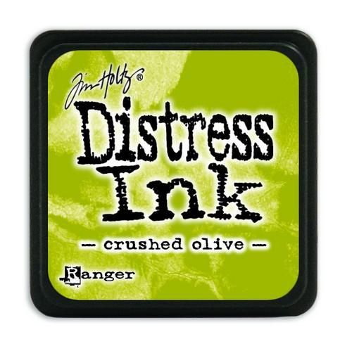 Ranger Distress Mini Ink pad - crushed olive  Tim Holtz