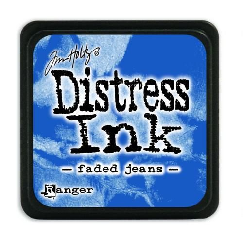 Ranger Distress Mini Ink pad - faded jeans  Tim Holtz