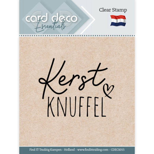 Card Deco Essentials - Clear Stamps - Kerst Knuffel