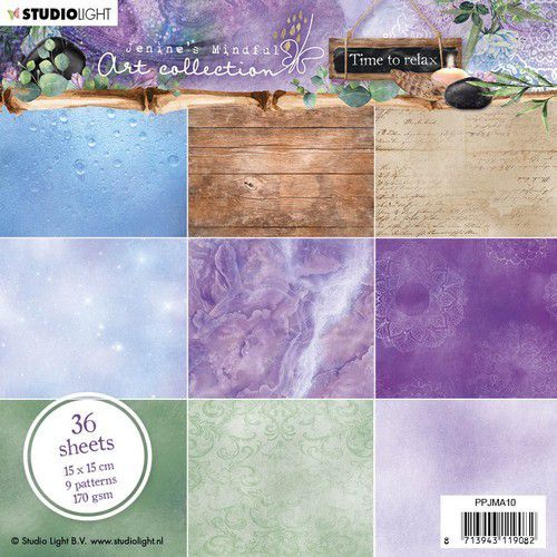 Studio Light Paper Pad Jenine's Mindful Art  Collection Time to Relax