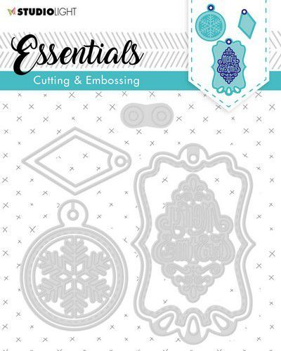 Studio Light Embossing Die Cut Stencil Label Essential nr.321