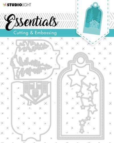 Studio Light Embossing Die Cut Stencil Label Essential nr.320