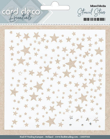 Card Deco Essentials - Stencil Stars