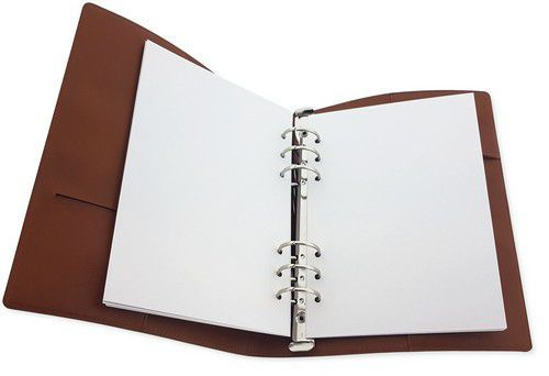 CraftEmotions Ringband Planner - voor papier A5-148x210mm - Cognac bruin PU leather - Paper not incl