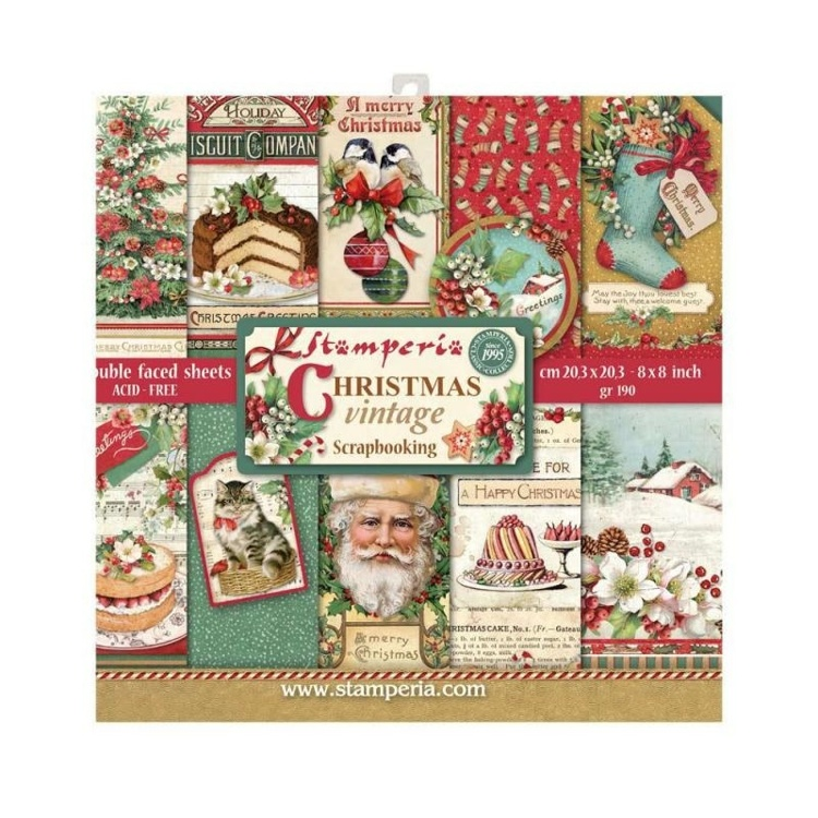 Christmas Vintage 8x8 Inch Paper Pack