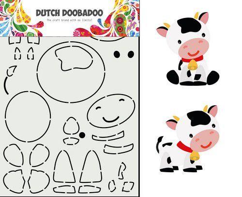 Dutch Doobadoo Dutch Card Art Built up Koe