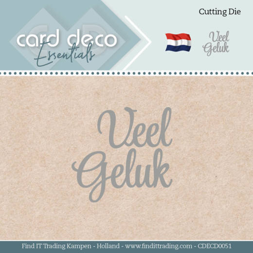 Card Deco Essentials - Dies - Veel Geluk